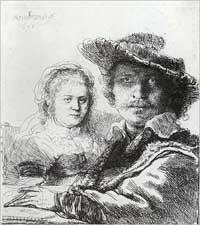 Saskia Rembrandtin kanssa